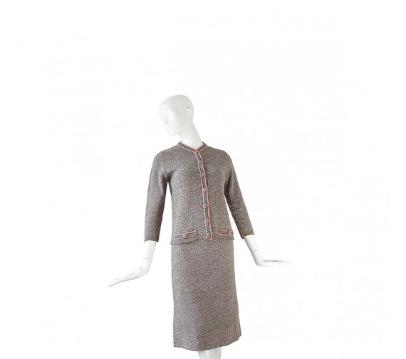 1950s Suit • 50s Knit Two Piece Sweater Suit • Top