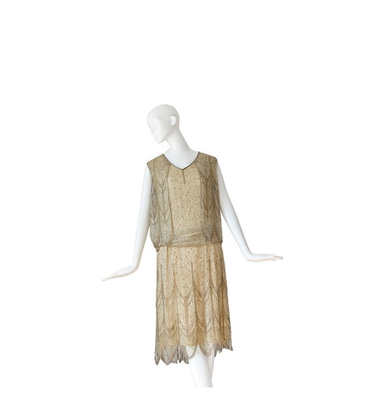 1920s Wedding Dress • 20s Flapper Dress • Lace Dec