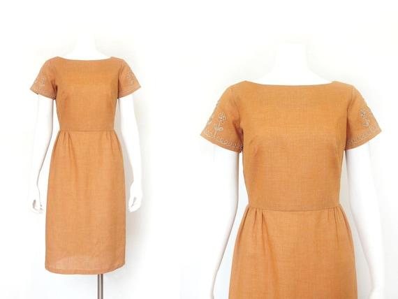 1950s Dress | Vintage Toni Todd 50s Sheath Dress |