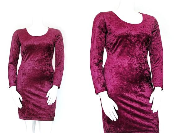 1990s Crushed Velvet Dress | 90s Volup All That Ja