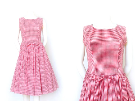 Vintage 1950s Gingham Day Dress | 50s Day Dress |