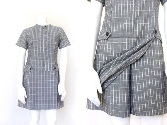 60s Mod Dress | Vintage 1960s Playsuit Skort | Sma