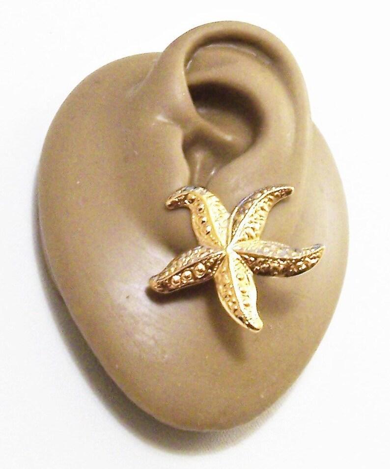 12737ca5e Avon Starfish Pierced Post Stud Earrings Gold Tone Vintage Sea | Etsy