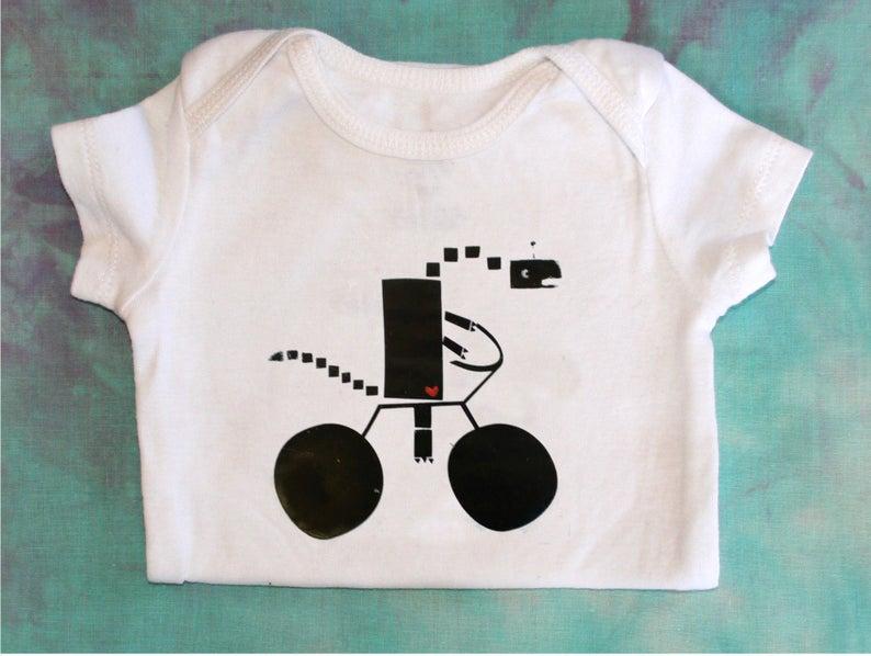 short or long sleeve onesiebodysuit 3M 12M 24M Baby Onesie 18M newborn 6M Baby Dinosaur Robot Bicycles 9M