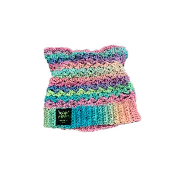 Pastel Acrylic/Wool KittyCatBeanie