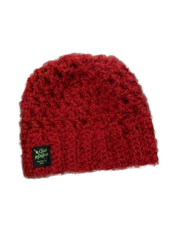 Maroon Beanie crochet One size Acrylic wool