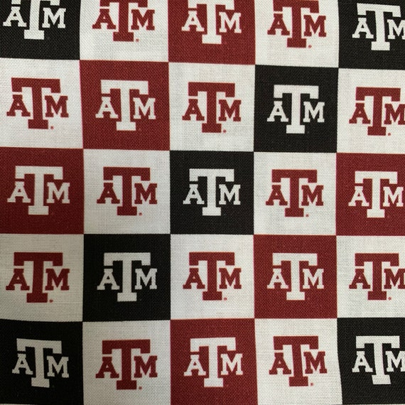 Texas A&m Maroon and Black Cotton Fabric Piece