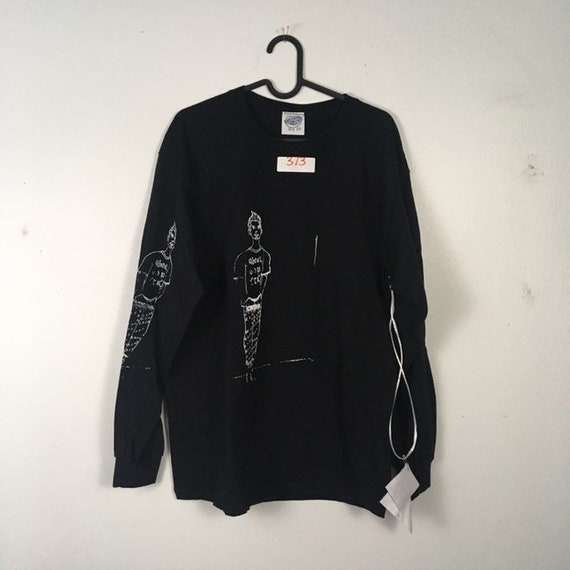 Urban Disciple By Ghoul Boy Screen Printed Black Longsleeve 3/3 Size Large
