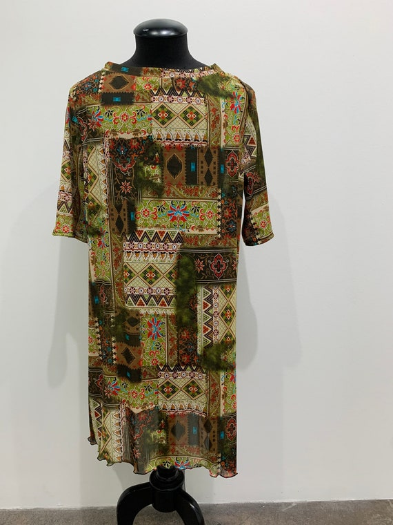Mesh See through Long Tunic style Cover up