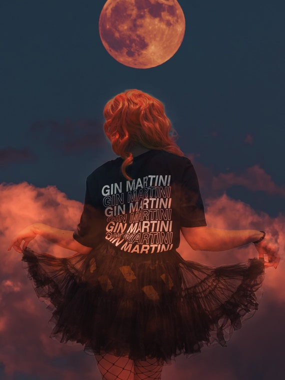 Gin Martini Geometric My shell Tshirt