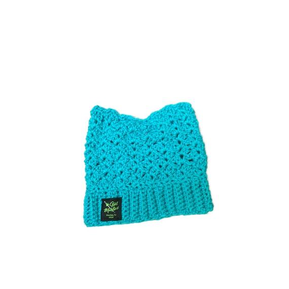 Teal KittyCatBeanie One size Acrylic wool