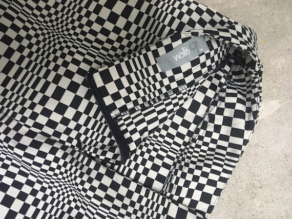 Vintage Checkerboard skirt Size 32""