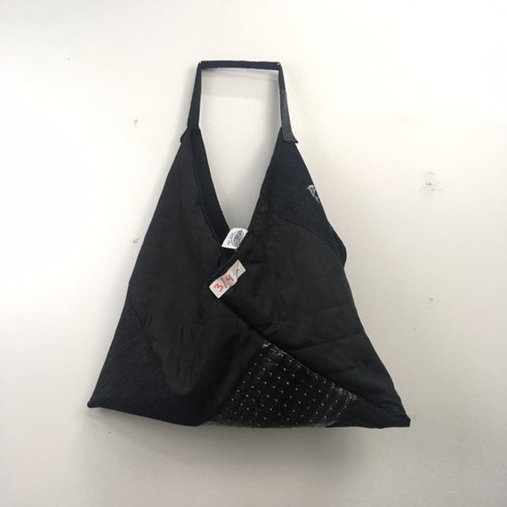Urban Disciple by Ghoul Boy Zero-Waste Triangle Origami Tote Bag editorial 3/4