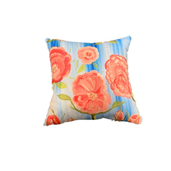 13X13 Flower Pillow Canvas