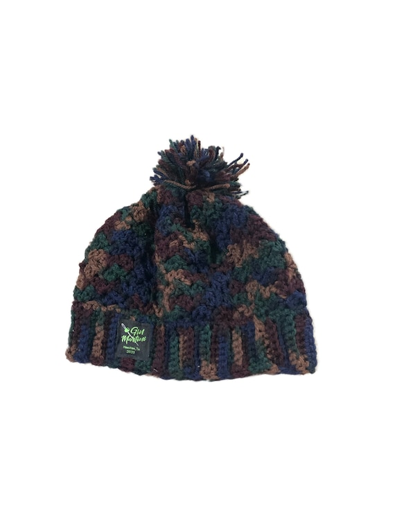 Camo crochet One size Acrylic wool