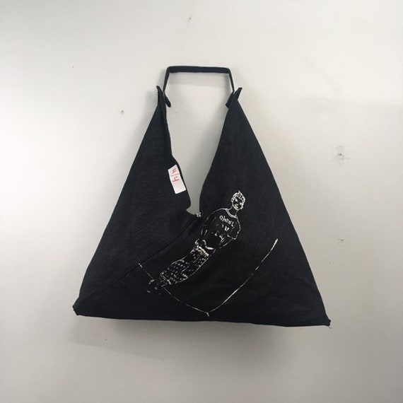 Urban Disciple by Ghoul Boy Zero-Waste Triangle Origami Tote Bag editorial 4/4