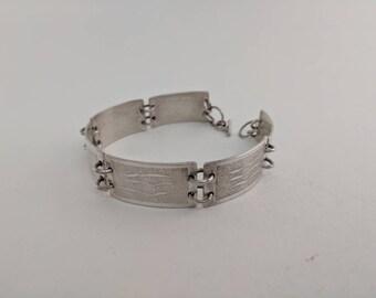 Sterling Rollerprinted Bracelet