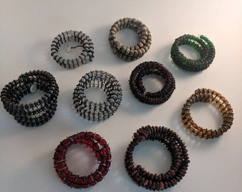 Bike Chain Beaded Bracelet (various colors)