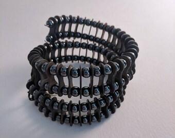 Bike Chain Beaded Bracelet (dark)