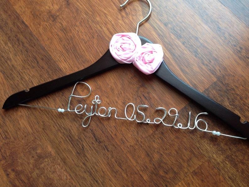 Wedding Hangers  Wedding Hangers SET  Personalized Hangers and Mrs Bridal Hanger  Bride /& Groom Hangers  Mr