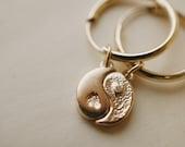 Yin Yang Charm Hoops *made-to-order