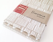 Hand printed paper // recycled paper set // eco gift wrap // white hand printed paper