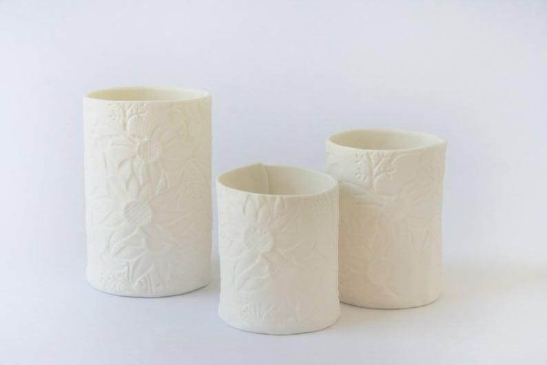 Porcelain Australian Flannel Flower Tealight Holder