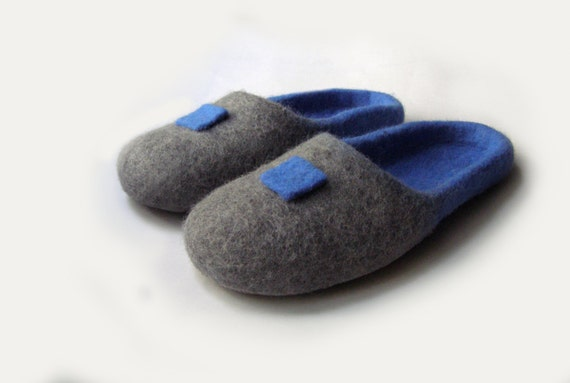 95f968762de29 Women house shoes, felted natural wool slippers, Felted shoes Japan / sky /  gray / color / marine / ocean