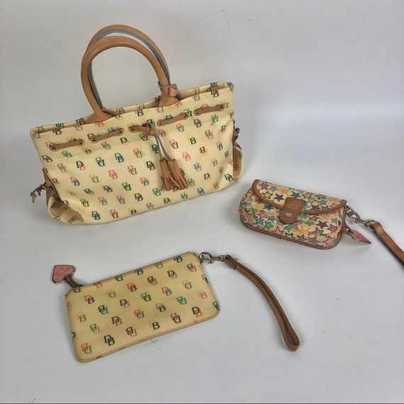 Vintage Dooney & Bourke purse wristlet bundle tote