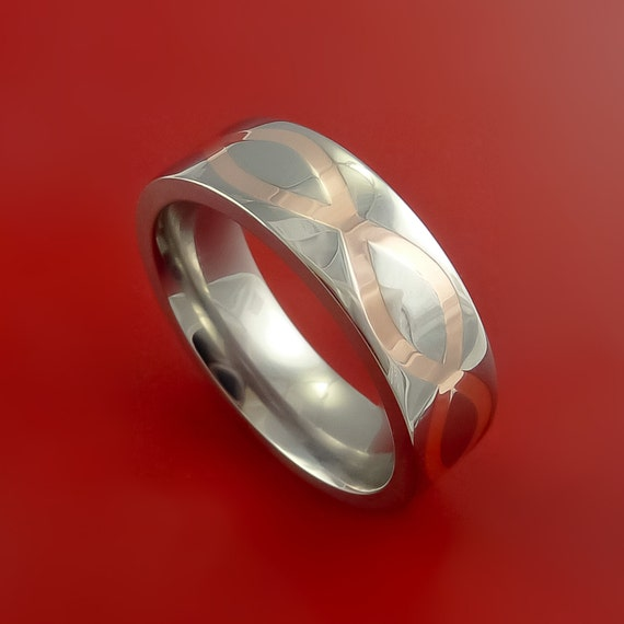 Titanium Rifling Carved Band Custom Ring Made to Any Sizing and Finish 3-22