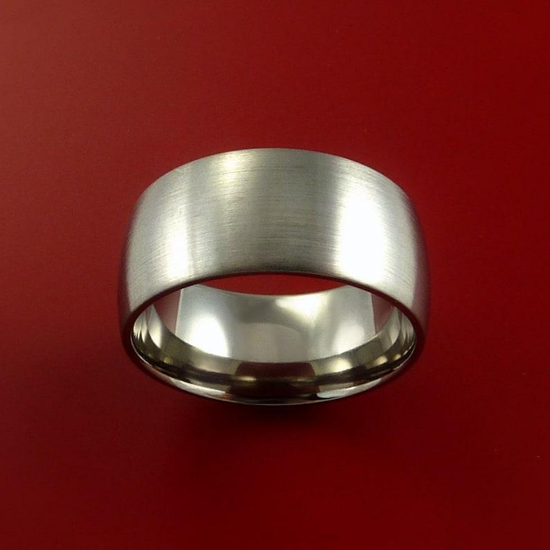 Titanium Wide Wedding Band Unisex Engagement Rings Made to Any Sizing 3 to 22