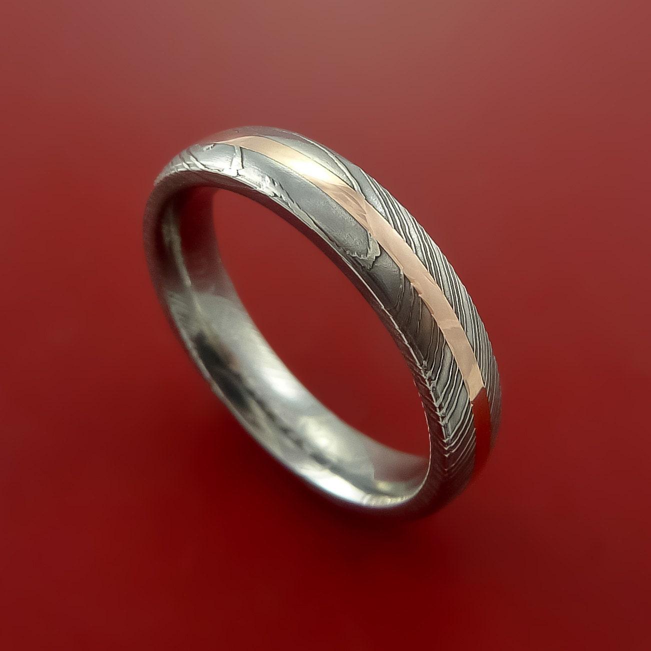 Damascus Steel Ring Wedding Band Genuine Craftsmanship Made |Damascus Steel Rings For Women