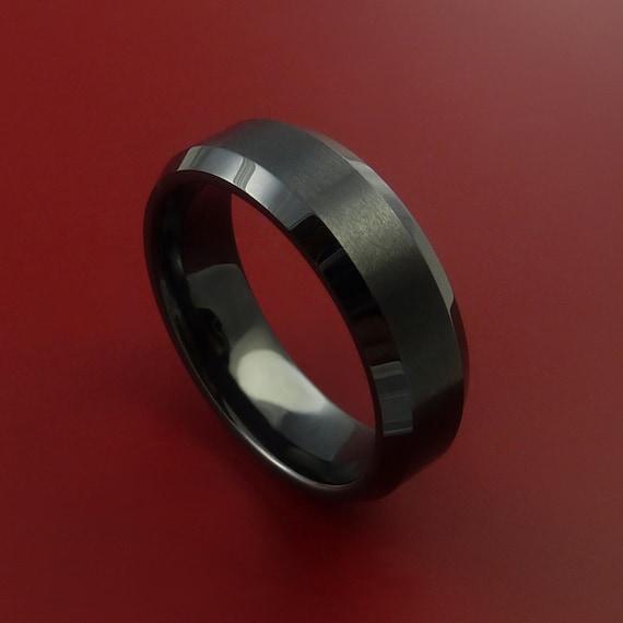 Black Ceramic Ring Durable Custom Made Ring Etsy