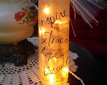 Wine art,wine craft,decorated wine bottles with lights,wine bottle lamp,night light,sister gift,mom gift,friend gift,wine gifts
