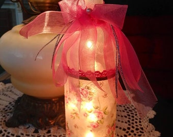 Mothers day,wine craft,wine gift,wine art,roses,wine bottles with lights,wine bottle lamp,pink roses,decorated wine bottles with lights,lamp