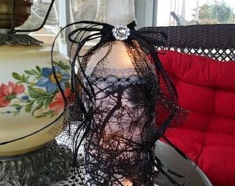 Halloween,halloween light,halloween decorations,lighted wine bottle,wine bottle light,lighted bottles,bare tree,winelight,wine bottle art