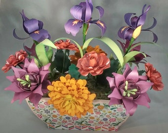Paper flower arrangement etsy paper flower arrangement mightylinksfo