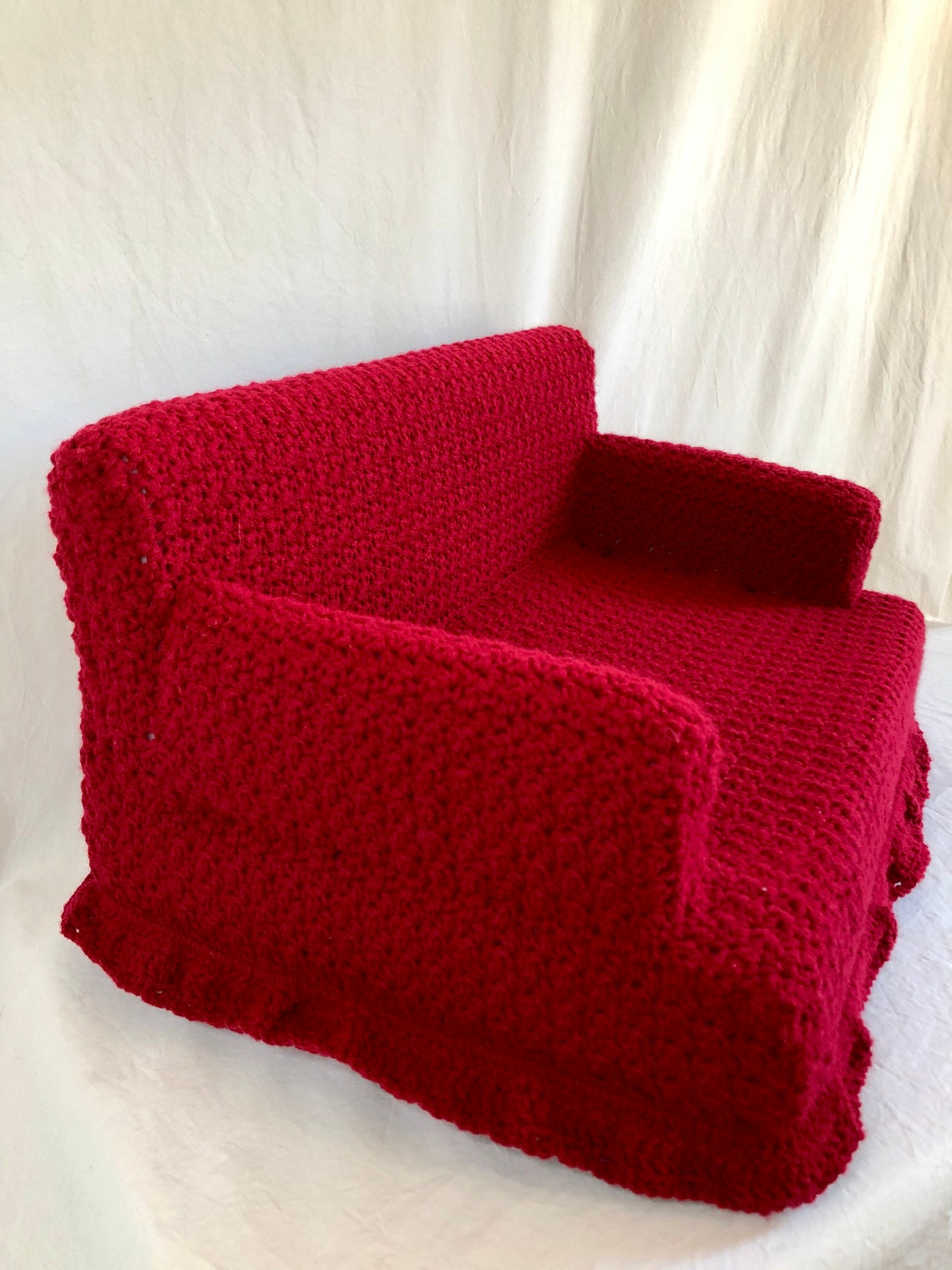 Comfy Crocheted Kitty Couch Pet Bed Made to Order image 5