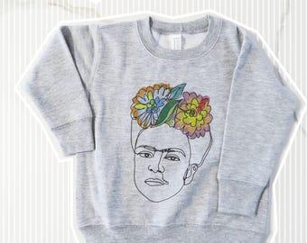 Frida Kahlo Viva La Frida kids sweatshirt