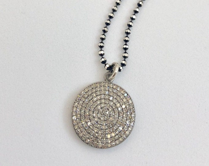 Diamond Pave Pendant Necklace