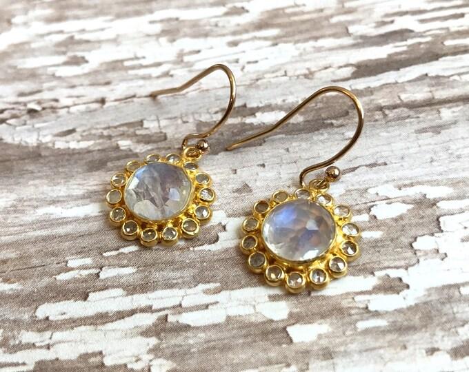 Moonstone Floral earrings