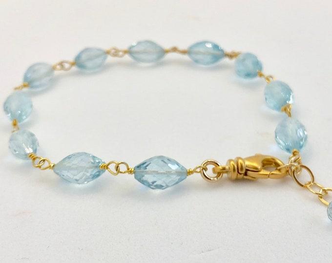 Blue Topaz Gemstone Bracelet