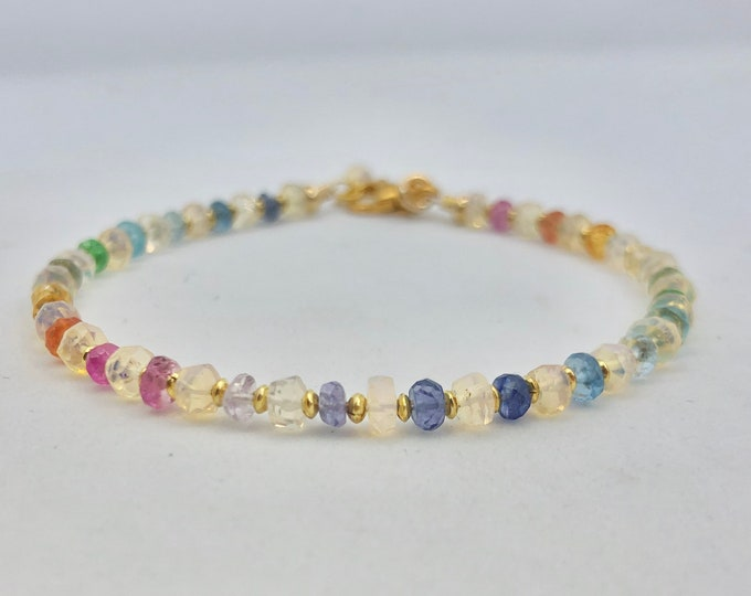 Opal And Gemstone Bracelet
