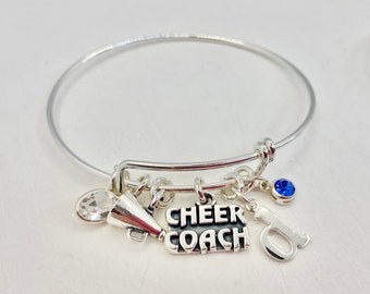 Cheer Coach Charm Bracelet   Sterling Silver   Design Your Own