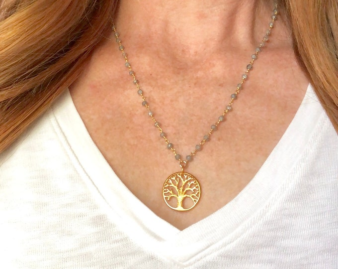 Tree of Life on Wire Wrapped Necklace