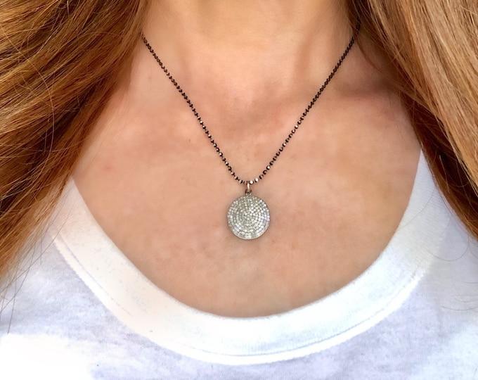 Diamond Pave Pendant Necklace