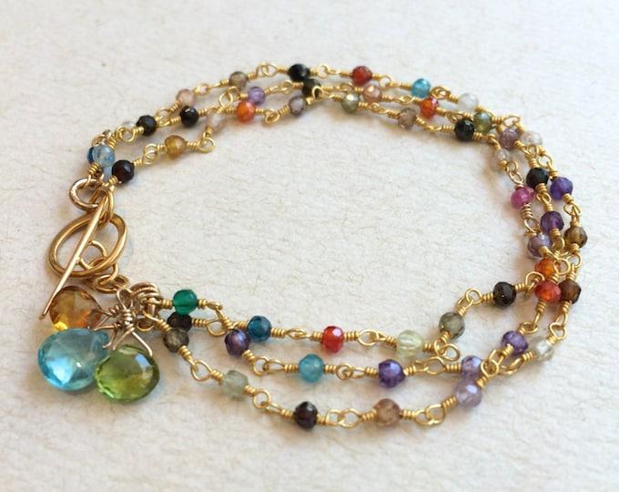 Personalized Mother's Gemstone Bracelet | Birthstone Bracelet | Personalized Birthstone Bracelet