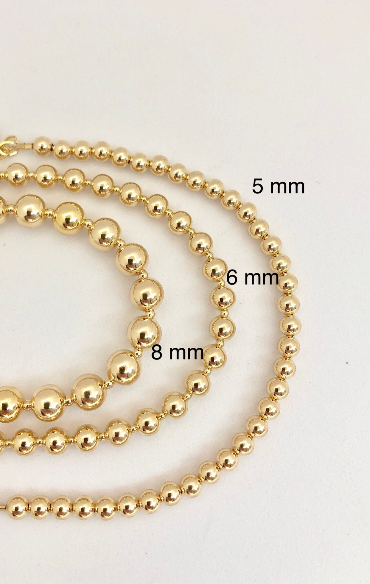 14 k GOLD FILLED  4 MM Pkg. Of 8 CRIMP COVERS