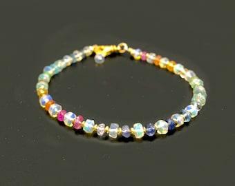 Opal and Gemstone Bracelet   October Birthstone Bracelet