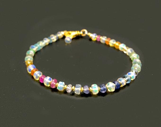 Opal and Gemstone Bracelet | October Birthstone Bracelet